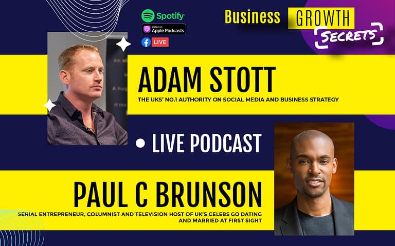 Business Growth Secrets Live Podcast With Special Guest Paul C Brunson